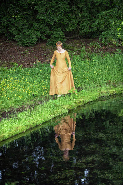 Photograph - Medieval Lady, Barefoot by Jean Gill