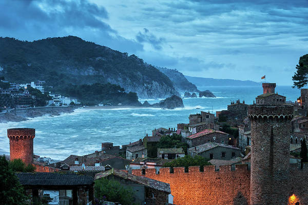 Wall Art - Photograph - Medieval Old Town Of Tossa De Mar At Dusk by Artur Bogacki