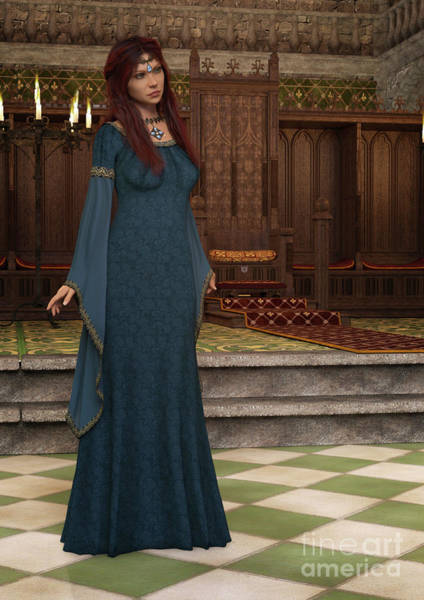 Digital Art - Medieval Queen by Elle Arden Walby