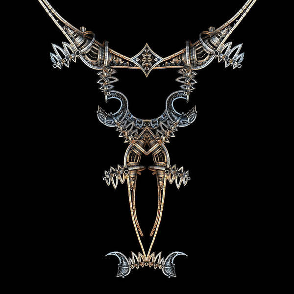 Digital Art - Medieval Steampunk Necklace by Hal Tenny