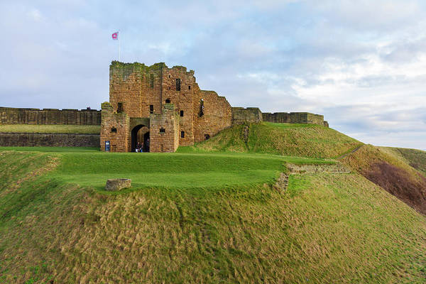 Stone Wall Art - Photograph - Medieval Tynemouth Priory And Castle On Tynemouth Hill by Iordanis Pallikaras