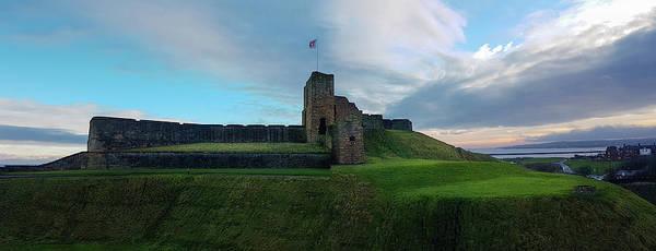 Stone Wall Art - Photograph - Medieval Tynemouth Priory And Castle Ruins Panorama by Iordanis Pallikaras