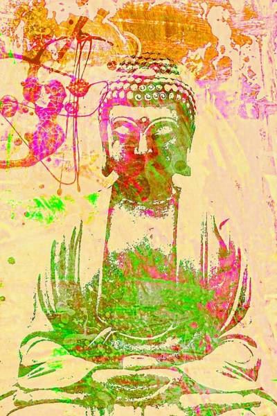 Eastern Digital Art - Meditating Buddha  by Brian Broadway