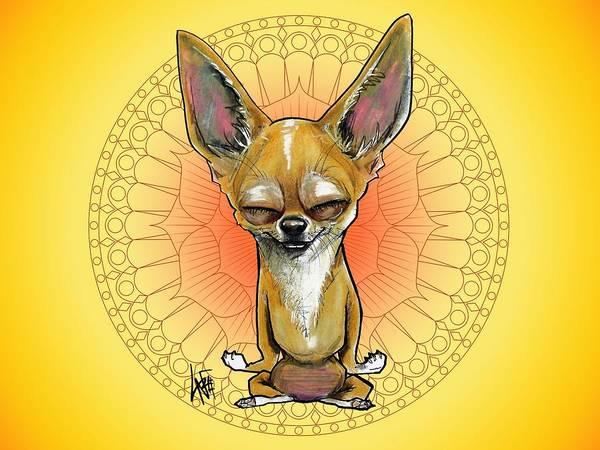 Meditating Chihuahua Art Print