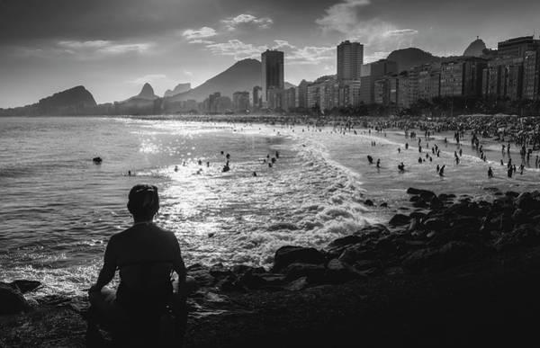 Photograph - Meditation At Copacabana, Rio De Janeiro, Brazil by Alexandre Rotenberg