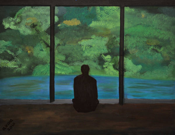 Wall Art - Painting - Meditation by Aviva Moshkovich
