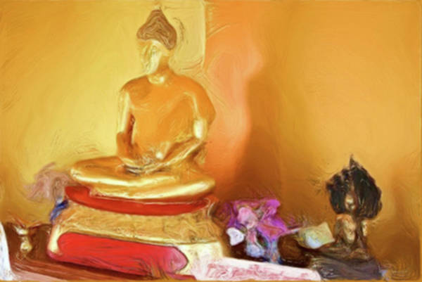 Painting - Meditation Room Buddha by Bates Clark