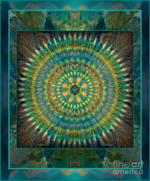 Mixed Media - Meditation Teal by Wbk