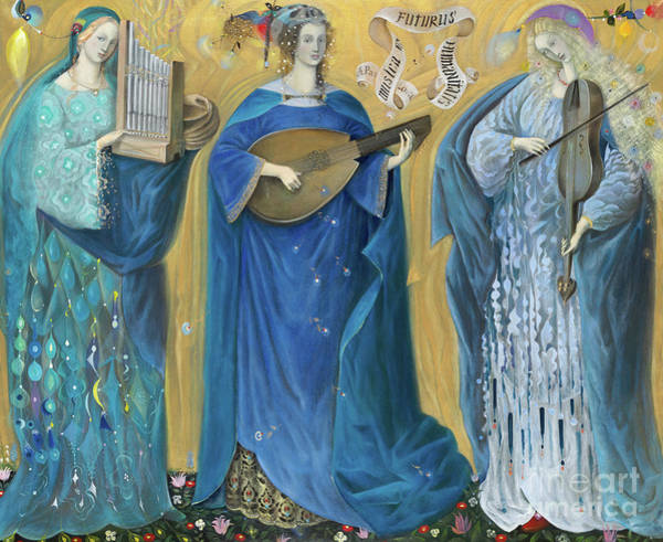 Strum Wall Art - Painting - Meditations On The Holy Trinity  After The Music Of Olivier Messiaen, by Annael Anelia Pavlova