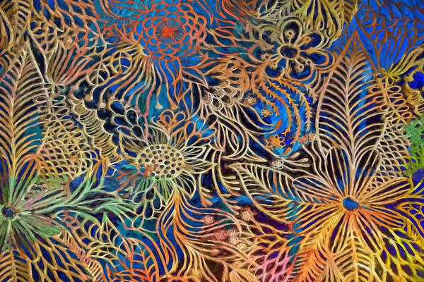 Linear Painting - Meditative Flowers by Lutz Baar