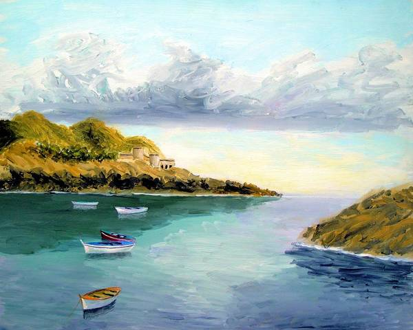 Painting - Mediterranean Bay by Larry Cirigliano
