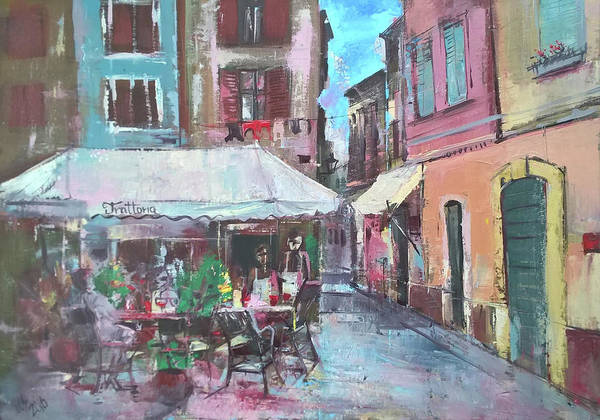 Painting - Mediterranean Restaurant by Lorand Sipos