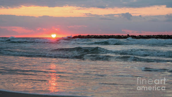 Photograph - Mediterranean Sea Waves With Colorful Sunset In The Background by PorqueNo Studios