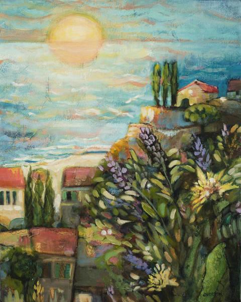 Wall Art - Painting - Mediterranean Seascape 3 by Jen Norton
