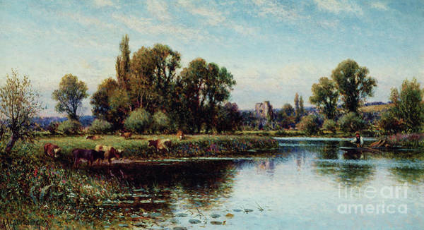 Wall Art - Painting - Medmenham Abbey  by Alfred Augustus Glendening