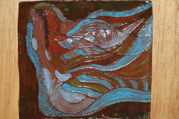 Ceramic Art - Medusa - Tile by Gloria Ssali