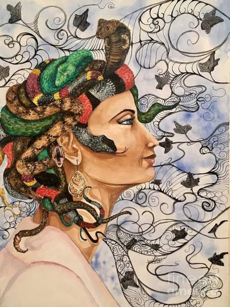 Mixed Media - Medusa by Mastiff Studios