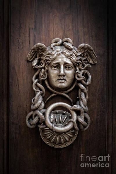 Rome Wall Art - Photograph - Medusa Head Door Knocker by Edward Fielding