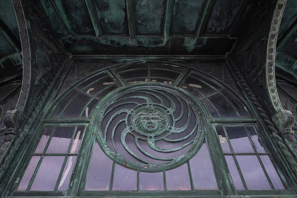 Wall Art - Photograph - Medusa Window Carousel House Asbury Park Nj by Terry DeLuco