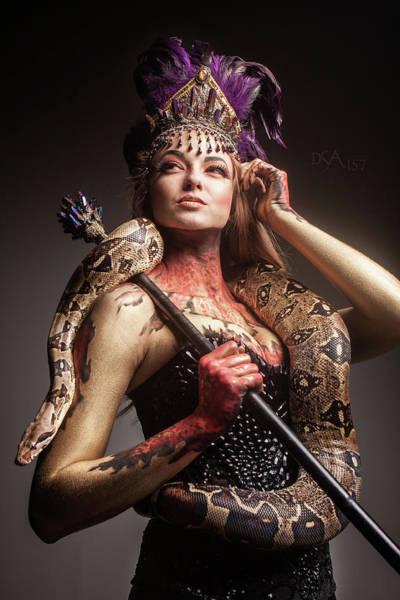 Bodypaint Wall Art - Photograph - Medusa's Brood II by David April