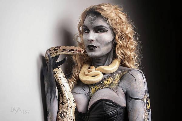 Bodypaint Wall Art - Photograph - Medusa's Brood Viii by David April