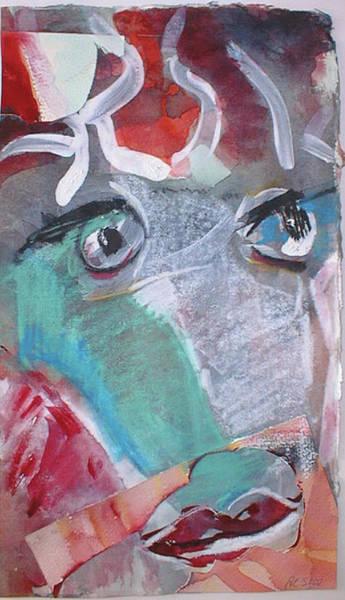 Painting - Medusas Haupt/ Medusa S Head by Annette Kunow