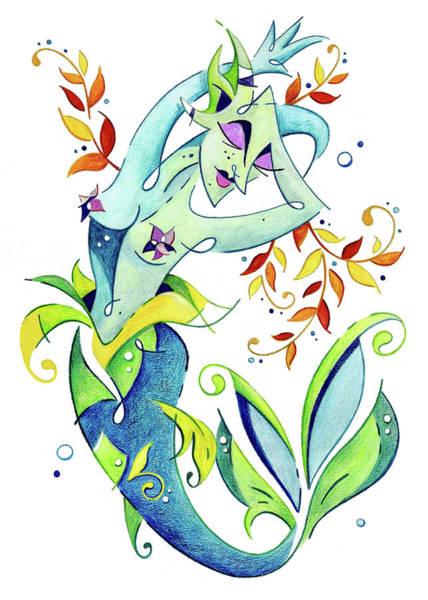 Wall Art - Painting - Meerjungfrau Art Design - Fantasy Illustration by Arte Venezia