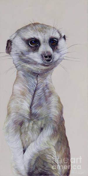 Wall Art - Painting - Meerkat 1 by Odile Kidd