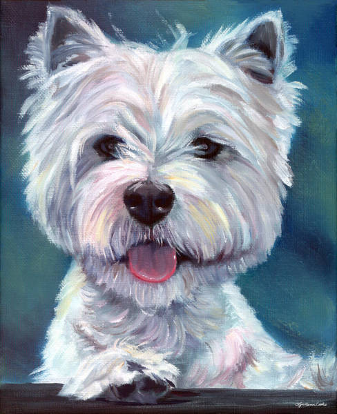 Wall Art - Painting - Meet And Greet - West Highland Terrier by Lyn Cook