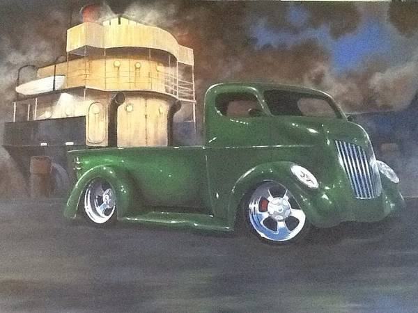 Custom Truck Painting - Meet Me At Midnight by Devon Packwood