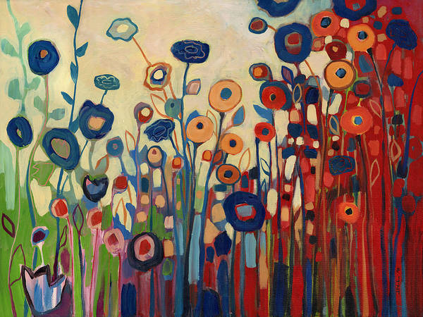Wall Art - Painting - Meet Me In My Garden Dreams by Jennifer Lommers