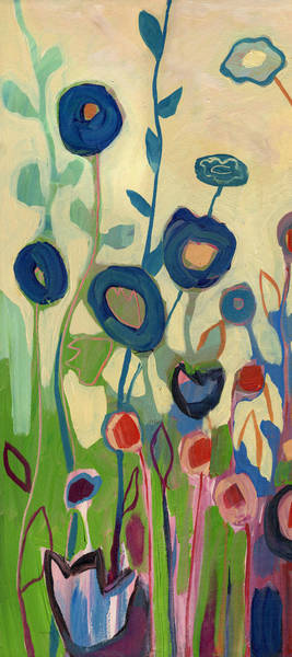 Wall Art - Painting - Meet Me In My Garden Dreams Part A by Jennifer Lommers