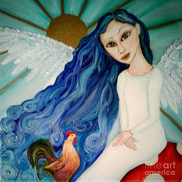 Black Crowes Wall Art - Painting - Meet Me In The Morning by Wendy Wunstell