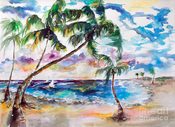Painting - Meet Me On Bimini Island Bahamas by Ginette Callaway