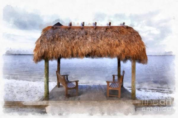 Painting - Meet Me Under The Chickee Hut by Edward Fielding