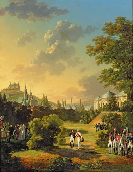 1781 Painting - Meeting Between Napoleon I And Ferdinand IIi by Hippolyte Lecomte