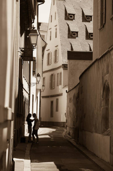 Alsace Wall Art - Photograph - Meeting In The Shadows by W Chris Fooshee
