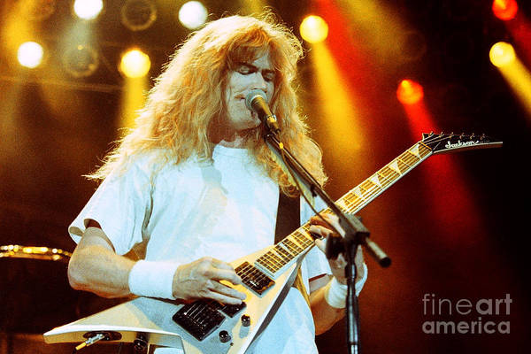 Dave Mustaine Wall Art - Photograph - Megadeath 93-dave-0366 by Timothy Bischoff