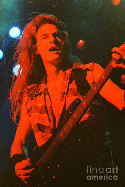 Dave Mustaine Wall Art - Photograph - Megadeath 93-david-0370 by Timothy Bischoff