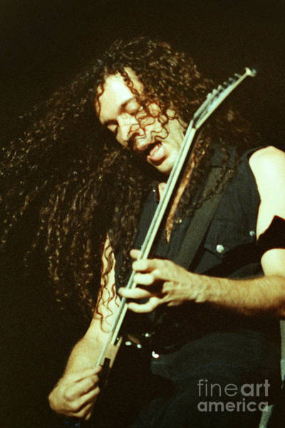 Dave Mustaine Wall Art - Photograph - Megadeath 93-marty-0372 by Timothy Bischoff