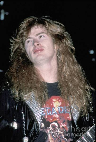 Megadeth Wall Art - Photograph - Megadeth Dave Mustaine by Concert Photos