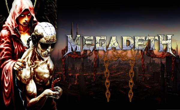 Megadeth Wall Art - Digital Art - Megadeth by Lissa Barone