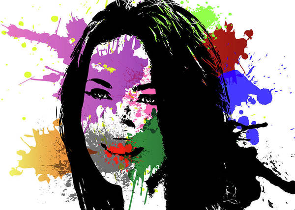 Wall Art - Digital Art - Megan Fox Pop Art by Ricky Barnard
