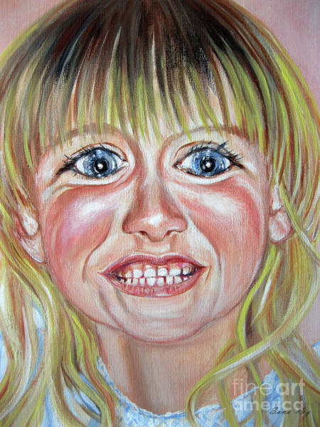 Painting - Megan. Portrait. Face. Acrylic On Canvas by Oksana Semenchenko
