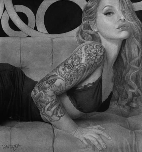 Tattoo Drawing - Megan Renee by Tim Dangaran
