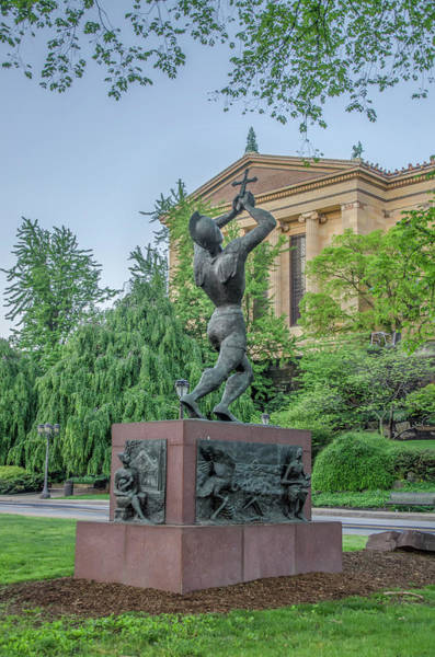 Wall Art - Photograph - Meher Statue - Philadelphia Museum Of Art by Bill Cannon