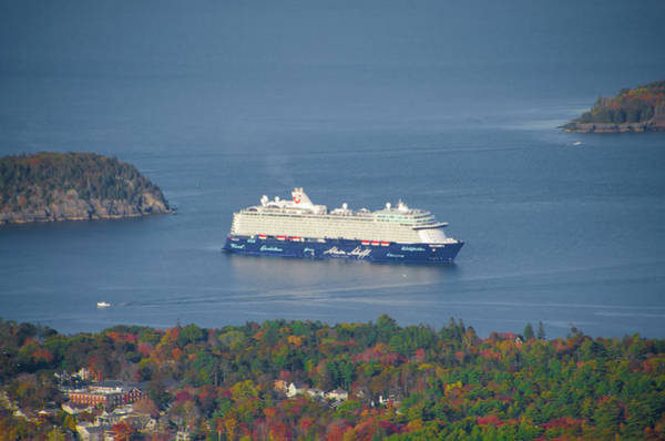 Wall Art - Photograph - Mein Schiff Cruise Ship In Bar Harbor Maine by Bill Cannon