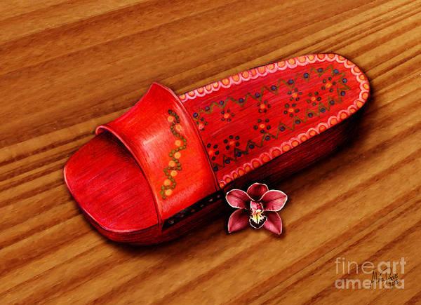 Wooden Shoe Digital Art - Melaka Clog by Alina Davis