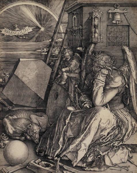 Albrecht Durer Wall Art - Relief - Melancolia I by Albrecht Durer