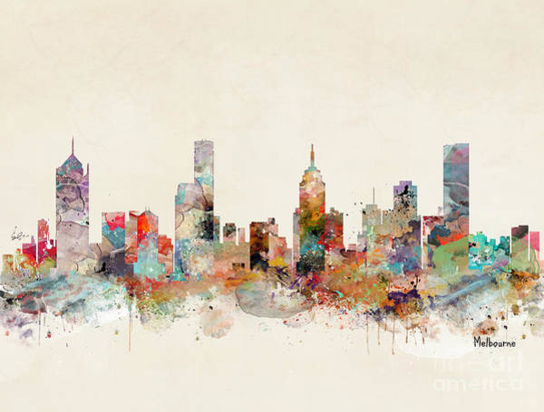 Watercolour Landscape Painting - Melbourne Australia by Bri Buckley